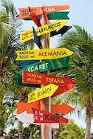 Low angle view of a signboard, Cancun, Mexico Stock Photo - Premium Royalty-Freenull, Code: 625-01751860