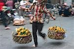 Woman selling fruits, Hanoi, Vietnam Stock Photo - Premium Royalty-Free, Artist: Edward Pond, Code: 625-01753107