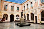 Monument in a courtyard of a museum, Museo Postal y Filatelico del Peru, Lima, Peru Stock Photo - Premium Royalty-Free, Artist: AWL Images, Code: 625-01753332