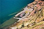 High angle view of a dock, Taquile Island, Lake Titicaca, Puno, Peru Stock Photo - Premium Royalty-Freenull, Code: 625-01753422