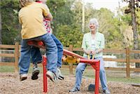 Woman on Teeter-Totter with Grandsons    Stock Photo - Premium Rights-Managednull, Code: 700-01753617