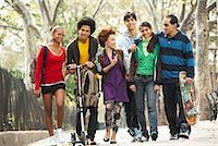 sports scooters - Teenagers Hanging Out    Stock Photo - Premium Royalty-Freenull, Code: 600-01764053