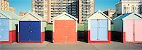Beach Huts at Brighton Beach, East Sussex, England    Stock Photo - Premium Rights-Managednull, Code: 700-01764321