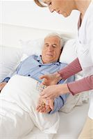 Nurse Giving Medication to Patient    Stock Photo - Premium Rights-Managednull, Code: 700-01764486