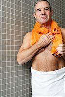 Portrait of Man in Bathroom    Stock Photo - Premium Royalty-Freenull, Code: 600-01764508