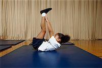 Girl in Gym Class    Stock Photo - Premium Royalty-Freenull, Code: 600-01764805