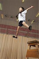 Girl Doing Gymnastics    Stock Photo - Premium Royalty-Freenull, Code: 600-01764836