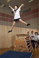 Kids Doing Gymnastics    Stock Photo - Premium Royalty-Freenull, Code: 600-01764840