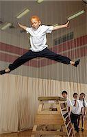 Kids Doing Gymnastics    Stock Photo - Premium Royalty-Freenull, Code: 600-01764841