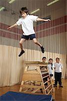 Kids Doing Gymnastics    Stock Photo - Premium Royalty-Freenull, Code: 600-01764842