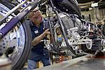 Mechanic Working on Motorcycle    Stock Photo - Premium Rights-Managed, Artist: Ron Fehling, Code: 700-01764862