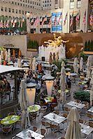 restaurant new york manhattan - Rockefeller Center, New York City, New York, USA    Stock Photo - Premium Rights-Managednull, Code: 700-01765087
