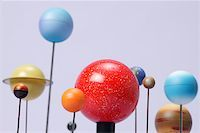 Model of planets Stock Photo - Premium Royalty-Freenull, Code: 621-01776085