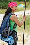 Young woman hiking Stock Photo - Premium Royalty-Free, Artist: Raymond Forbes, Code: 655-01781493