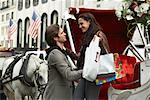 Couple with Horse-Drawn Carriage, New York City, New York, USA    Stock Photo - Premium Royalty-Free, Artist: Masterfile, Code: 600-01787361