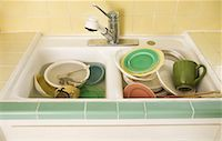 Dirty Dishes in Sink    Stock Photo - Premium Rights-Managednull, Code: 700-01787528