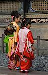 Girls in Taditional Costumes, Tosho-gu, Nikko, Japan
