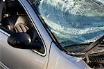 Close-up of Broken Windshield    Stock Photo - Premium Rights-Managed, Artist: Arian Camilleri, Code: 700-01788669
