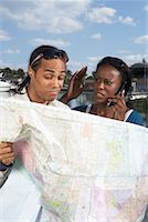 Couple Looking at Map    Stock Photo - Premium Royalty-Freenull, Code: 600-01792391