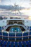Deck of Cruise Ship at Sunrise    Stock Photo - Premium Rights-Managed, Artist: Derek Shapton, Code: 700-01792308