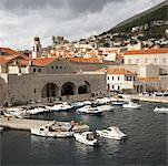 Overview of City Harbor, Dubrovnik, Croatia    Stock Photo - Premium Rights-Managed, Artist: Derek Shapton, Code: 700-01792349