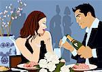 Couple eating at an Asian restaurant Stock Photo - Premium Royalty-Freenull, Code: 645-01826144