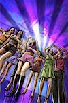 Young people dancing in a nightclub Stock Photo - Premium Royalty-Freenull, Code: 645-01826159