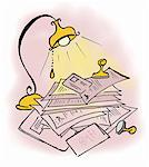 Paperwork, stamps and passport Stock Photo - Premium Royalty-Freenull, Code: 645-01826251