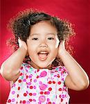 Girl (2-4) covering ears with hands, portrait Stock Photo - Premium Royalty-Free, Artist: Michael A. Keller, Code: 618-01836881
