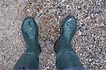 Person Wearing Boots in Water    Stock Photo - Premium Rights-Managed, Artist: photo division, Code: 700-01837835