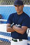 Portrait of Baseball Player    Stock Photo - Premium Rights-Managed, Artist: Masterfile, Code: 700-01838424
