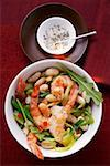 Bean stew with shrimps and rocket Stock Photo - Premium Royalty-Free, Artist: foodanddrinkphotos, Code: 659-01843822
