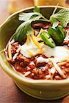 Chili con carne with cheese and sour cream Stock Photo - Premium Royalty-Freenull, Code: 659-01845090