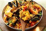 Paella with seafood Stock Photo - Premium Royalty-Freenull, Code: 659-01845200