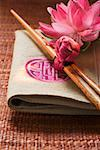 Chopsticks on fabric napkin (Asia) Stock Photo - Premium Royalty-Free, Artist: foodanddrinkphotos, Code: 659-01846425
