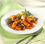 Rigatoni with vegetables and herbs Stock Photo - Premium Royalty-Free, Artist: Glowimages, Code: 659-01846601