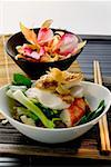 Chicken breast and shrimp on vegetables (Indonesia) Stock Photo - Premium Royalty-Freenull, Code: 659-01846710