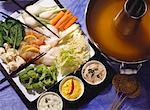 Vegetable Fondue with Fish & Sauces Stock Photo - Premium Royalty-Free, Artist: Blend Images, Code: 659-01848686