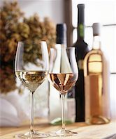 Still life with white wine and rosé wine Stock Photo - Premium Royalty-Freenull, Code: 659-01850056