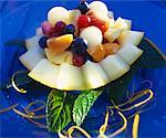 Fruit salad with melon Stock Photo - Premium Royalty-Freenull, Code: 659-01850351