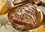 Butter stollen with almonds and candied fruit Stock Photo - Premium Royalty-Free, Artist: Photocuisine, Code: 659-01850359