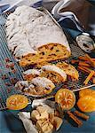 Christmas stollen with candied oranges Stock Photo - Premium Royalty-Free, Artist: foodanddrinkphotos, Code: 659-01850360