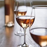 Glasses of rosé wine Stock Photo - Premium Royalty-Freenull, Code: 659-01850386