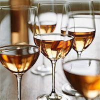 Glasses of rosé wine Stock Photo - Premium Royalty-Freenull, Code: 659-01850387