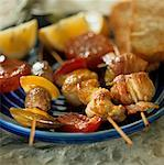Three grilled kebabs Stock Photo - Premium Royalty-Freenull, Code: 659-01850593