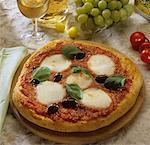 Pizza Margherita Stock Photo - Premium Royalty-Freenull, Code: 659-01850611
