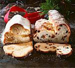 Marzipan stollen and Christmas stollen with raisins Stock Photo - Premium Royalty-Free, Artist: foodanddrinkphotos, Code: 659-01850738