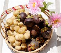 Thai gift basket of longans and mangosteens Stock Photo - Premium Royalty-Freenull, Code: 659-01851238