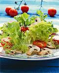 Tomato and mushroom salad Stock Photo - Premium Royalty-Free, Artist: Westend61, Code: 659-01851745