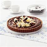 Chocolate tart with hazelnut base Stock Photo - Premium Royalty-Free, Artist: foodanddrinkphotos, Code: 659-01852192